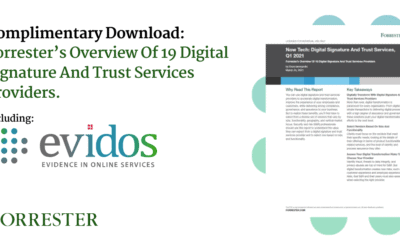 Evidos is named as one of Forrester's 19 Digital Signature and Trust Services